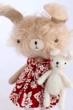 Image of Mini bunny Lindi | these really are exquisite they are little sets with clothes etc.  Click on link to see