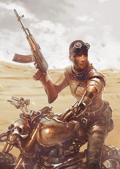 Furiosa by Abraão Lucas #illustration #design #motorcycles #motos   caferacerpasion.com