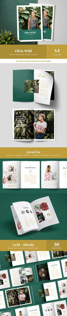 Ellen Wild / MULTIPURPOSE Magazine by Mirazz on @creativemarket