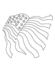 Drawing American Flag For Independence Day Coloring Pages - Download & Print Online Coloring Pages for Free | Color Nimbus