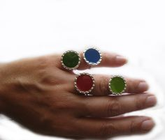 Gemstone Rings, Silver Rings, Gemstones, Colors, Happy, Collection, Jewelry, Jewlery, Gems