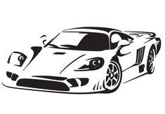 Sports Car Wall Decal - Speedy Vinyl Decor For Boys with regard to Sports Car Decals 34044 Wall Stickers Sports, Wall Decor Stickers, Car Stickers, Car Decals, Wall Decal, Sport Cars, Race Cars, Black And White Stickers, Vinyl Decor