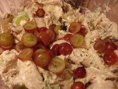 Red Grape / Pecan Chicken Salad  -  http://www.deepfriedkudzu.com/2008/01/red-grape-and-pecan-chicken-salad.html