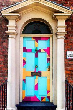 Love the actual door but not the surround frame Door Entryway, Entrance Doors, Doorway, Cool Doors, Unique Doors, Doors Galore, When One Door Closes, Knobs And Knockers, Door Gate