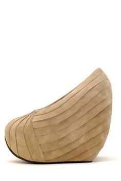 minimarket pleated suede avant-garde wedge