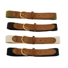 Stretchy Elasticated Belts - Pack of 4