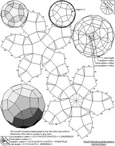 Archimedean Solids - Fold Up Patterns   The Geometry Code:Universal Symbolic Mirrors of Natural Laws Within Us