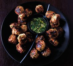 Fresh, zingy meatballs served with an oriental dipping sauce – great party food for family or friends