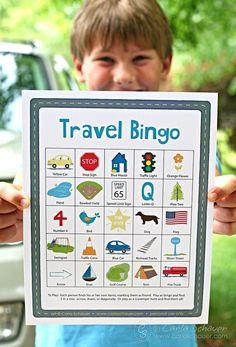 Add extra fun to your next road trip with this free printable road trip bingo game. #roadtripgamesfortoddlers
