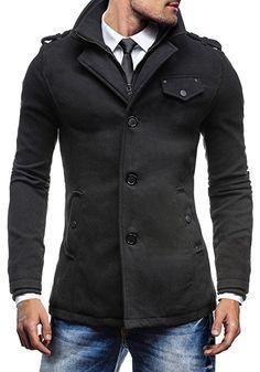 Herren Das neue BOLF Herrenmantel Mantel Wärmemantel