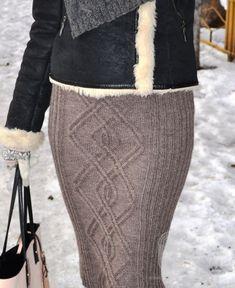 Красивая юбка-карандаш с аранами., схема вязания на сайте Люди Вяжут