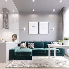 1,045 отметок «Нравится», 59 комментариев — ДИЗАЙН ИНТЕРЬЕРОВ Plan A (@planaspb_com) в Instagram: «Вот вариант, который не утвердили. Сейчас я смотрю, и понимаю, что всё правильно сделали. 🤔 По…» Narrow Living Room, Home Living Room, Living Room Designs, Living Room Decor, Home Design Decor, Home Interior Design, House Design, Simple Furniture, Small Apartment Decorating