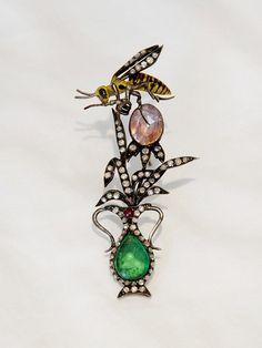 Victorian Diamond Bee Brooch