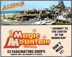 Alvin's Island Ad (circa Courtesy of Tim Hollis. Panama City Beach Florida, Panama City Panama, Florida Beaches, Summer Memories, Childhood Memories, Bay County, Florida Living, Shopping Malls, Famous Places