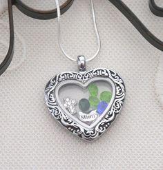 Mimi Heart Locket, Mimi Necklace, Mimi Cross Necklace, Birthstone Necklace, 1 2 3 4 5 6 Birthstones, Grandma Gifts, Nana Necklace, Custom