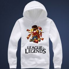 Twisted Fate hooded sweatshirts League of Legends 3xl hoodies for man