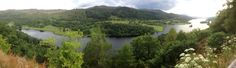 Panoramic shot of Loch Tummel at the Queens View, near Pitlochry in Scotland.