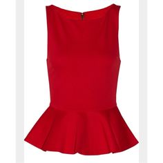 Red textured peplum ❤️ Beautiful red/orange textured peplum top. Zipper back :) will post actual pics when I get home. So cute for work or going out. Forever 21 Tops