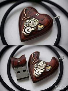 Steampunk heart usb