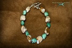 Picture This....Turquoise & Picture Jasper Bracelet On Your Hand. $45.00, via Etsy.