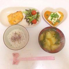 ささみの梅しそチーズはさみ焼き  冷奴  じゃがいもとわかめのお味噌汁 - 3件のもぐもぐ - 4/14 夜ごはん by 0720babyrSQ
