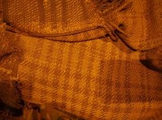 Plaid skirt of the Huldremose Woman, a bog body from 200-100BC. It used to be blue.