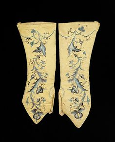 Mitts  Date: first quarter 18th century Culture: British Medium: silk