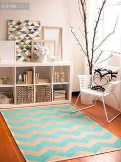 Take a look at this wonderful KALLAX living room display and storage idea from…