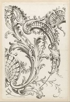 Alexis Peyrotte, Shell Cartouches And Acanthus Leaf Motif