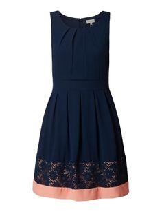 APRICOT Kleid mit floraler Spitze in Blau / Türkis online kaufen (9644758) | P&C Online Shop