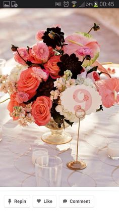 White, salmon, pink, champagne gold, with pops of crimson