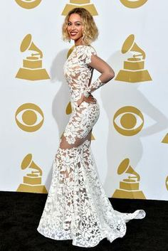 OH, BEY. Grammys' Red Carpet: See What Music's Biggest Stars Wore | Beyonce