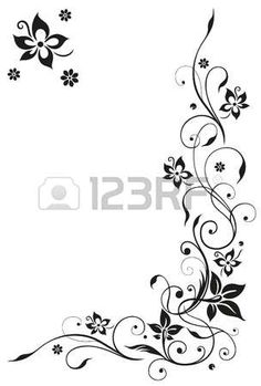 Illustration of Floral tribal with butterfly in black and pink vector art, clipart and stock vectors. Swirl Design, Border Design, Arabesque, Pix Art, Geniale Tattoos, Quilling Patterns, Vector Photo, Stencil Painting, Coloring Book Pages