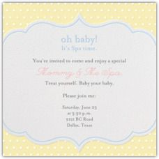 Oh Baby! Spa Baby Shower Invites