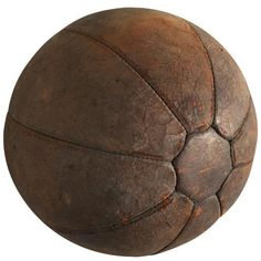 Antique Leather Medicine Exercise Ball ($295) ❤ liked on Polyvore featuring home, home decor, curiosities, euro sign, antique signs, leather home decor, antique home decor and european home decor