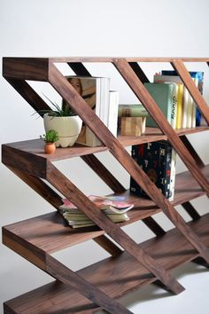 Wooden Librero Ramírez book shelf