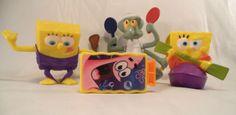Lot-of-4-Different-Spongebob-Squarepants-Action-Figures-Toys-Boys-Girls