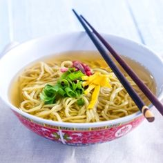 Sun Noodle's Homemade Saimin Soup Base - Kenshiro & Hisae Uki - continue their father's legacy of creating and sharing Sun Noodles from Hawaii. Kenshiro and Hisae (brother and sister) show us how to make Mom's homemade saimin soup.