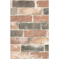 Wallpops 'Newport Brick'  Peel & Stick Vinyl Wallpaper (32.350 CLP) ❤ liked on Polyvore featuring home, home decor, wallpaper, backgrounds, filler, photos, rooms, effect, texture and text