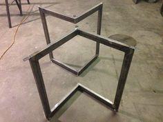 Chevron Metal Dining Table Base Legs by BennysBrackets on Etsy