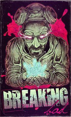 Breaking BadbyJon ToussasinAthens, Greece Breaking Bad Series, Breaking Bad Art, Bad Fan Art, Herren Hand Tattoos, Braking Bad, Fanart, Alternative Movie Posters, Walter White, Dope Art