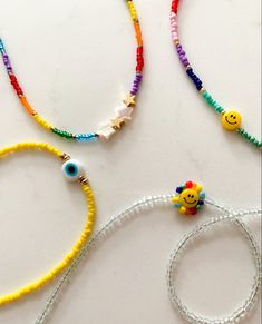 Seed Bead Necklace, Seed Bead Jewelry, Beaded Necklaces, Beaded Rings, Diy Necklace, Handmade Necklaces, Beaded Jewelry, Evil Eye Jewelry, Bracelet Designs