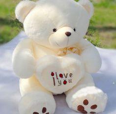 50cm Stuffed Plush Toy Holding LOVE Heart Big Plush Teddy Bear Soft Gift for Valentine Day Birthday Girls' Brinquedos
