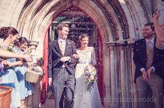 Dorset Wedding Photographs confetti. Photography by one thousand words wedding photographers