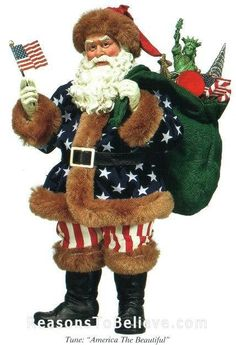 We really enjoy this patriotic Santa and are sure he knows the reason for the season.