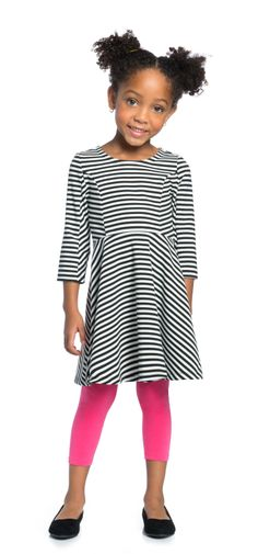 Stripe Girl Outfit  - PIN TO WIN!  My daughter has this outfit … and LOVES it.  Great quality and so many options with different tights and sweaters!