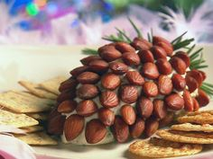 Awesome pinecone cheese ball recipe...  http://www.myrecipes.com/recipe/pinecone-cheese-ball-10000000520345/