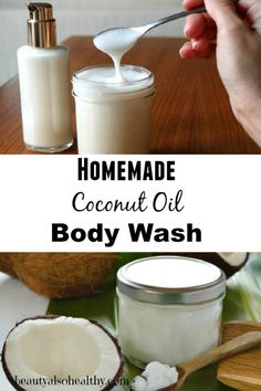 Cleanse your skin while leaving it silky, smooth and completely moisturized using a homemade natural coconut oil body wash. Coconut oil is used in many natural beauty products, It's naturally antibacterial and antifungal, it's an excellent moisturizer and can penetrate deep into the skin. It smells delicious, is very affordable, and leaves your skin feeling nourished and smooth.