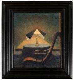 STEFAN JOHANSSON, IN THE LIGHT OF THE LAMP.1925.jpg