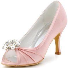 Elegantpark Women Wedding Heel Rhinestone Clip Bridesmaid Prom Pump 5cc02c2f7694